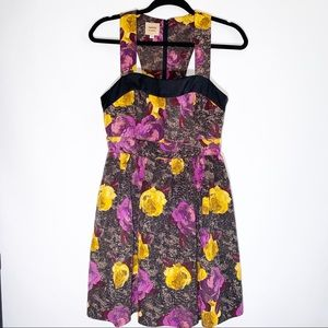 Anthro twinkle by Wenlan floral printed dress